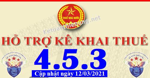 Phần mềm hỗ trợ kê khai thuế HTKK 4.5.3 mới nhất 2021