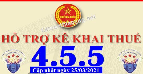 Phần mềm hỗ trợ kê khai thuế HTKK 4.5.5 mới nhất 2021