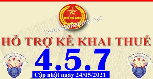 Phần mềm hỗ trợ kê khai thuế HTKK 4.5.7 mới nhất 2021
