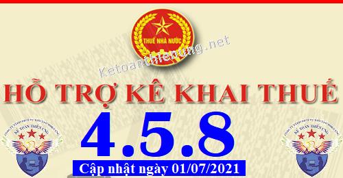 Phần mềm hỗ trợ kê khai thuế HTKK 4.5.8 mới nhất 2021