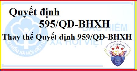 Quyết định 595/QĐ-BHXH thay thế QĐ 959/QĐ-BHXH của BHXH Việt Nam