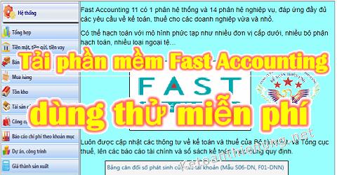 Tải phần mềm kế toán Fast Accounting miễn phí dùng thử
