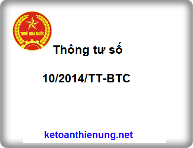 Thông tư số 10/2014/TT-BTC quy định xử phạt vi phạm hành chính về hóa đơn