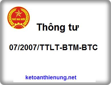 Thông tư 07/2007/TTLT-BTM-BTC quy định về khuyến mãi, hội chợ, triển lãm