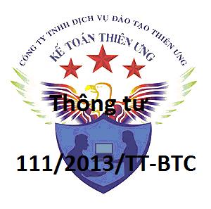 Thông tư 111/2013/TT-BTC hướng dẫn thi hành Luật thuế TNCN