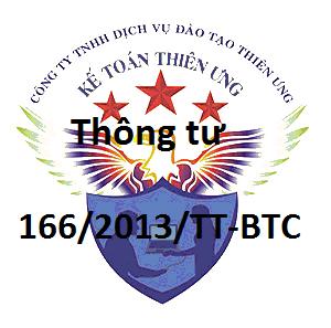 Thông tư 166/2013/TT-BTC xử phạt vi phạm hành chính về Thuế