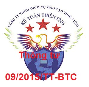 Thông tư 09/2015/TT-BTC quy định giao dịch tài chính của doanh nghiệp